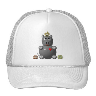 Cute Hippo with Hamsters! Trucker Hat