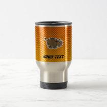 Cute Hippo; Yellow Orange Travel Mug