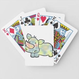Cute hippopotamus bicycle playing cards