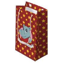 Cute hippopotamus cartoon small gift bag