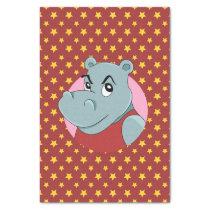 Cute hippopotamus cartoon tissue paper
