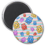 Cute Hippos Colorful Zoo Animal Theme for Children 2 Inch Round Magnet