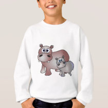 Cute Hippos Mom and Baby Sweatshirt
