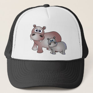Cute Hippos Mom and Trucker Hat