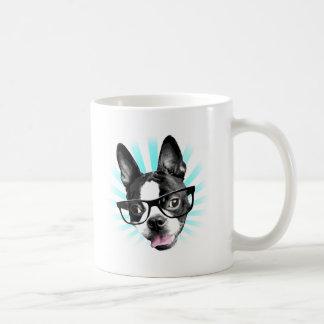 Cute! Hipster Boston Terrier Coffee Mug