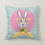Cute Hipster Bunny with Glasses Child's Pillow