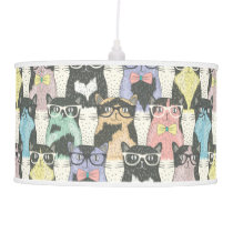 Cute Hipster Cats Pattern Ceiling Lamp