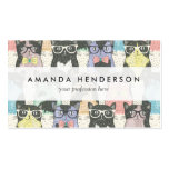 Cute Hipster Cats Pattern Double-Sided Standard Business Cards (Pack Of 100)