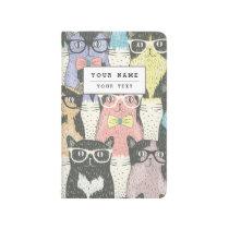 Cute Hipster Cats Pattern Journal