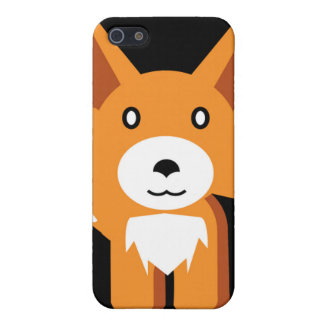 Cute Hipster Fox Face Drawing Cover For iPhone SE/5/5s