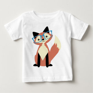 Cute Hipster Glasses Fox Baby T-Shirt