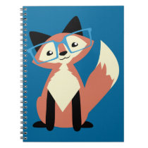 Cute Hipster Glasses Fox Notebook