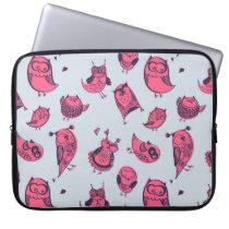 Cute hipster owls computer sleeve