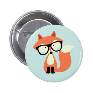 Cute Hipster Red Fox 2 Inch Round Button