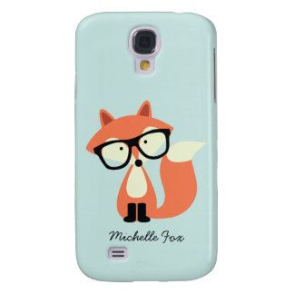 Cute Hipster Red Fox Galaxy S4 Case