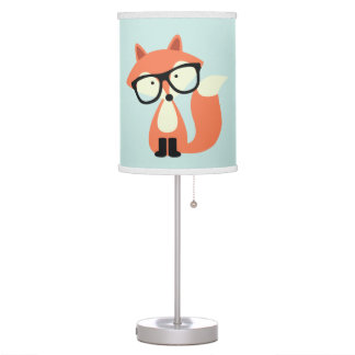 Cute Hipster Red Fox Desk Lamp