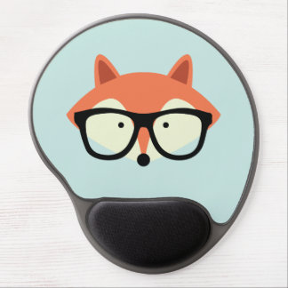 Cute Hipster Red Fox Gel Mouse Pad