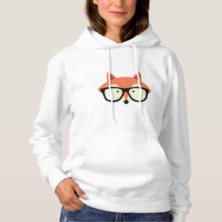 Cute Hipster Red Fox Hoodie