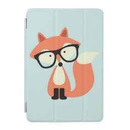 Cute Hipster Red Fox iPad Mini Cover