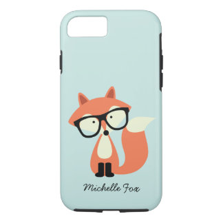 Cute Hipster Red Fox iPhone 7 Case