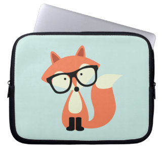Cute Hipster Red Fox Laptop Computer Sleeves