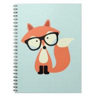 Cute Hipster Red Fox Notebook