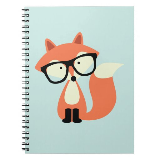 Cute Hipster Red Fox Notebook