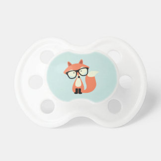 Cute Hipster Red Fox Pacifier
