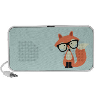 Cute Hipster Red Fox PC Speakers