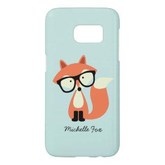 Cute Hipster Red Fox Samsung Galaxy S7 Case