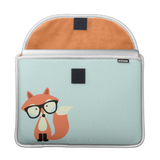 Cute Hipster Red Fox Sleeve For MacBooks