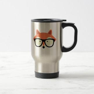 Cute Hipster Red Fox Travel Mug