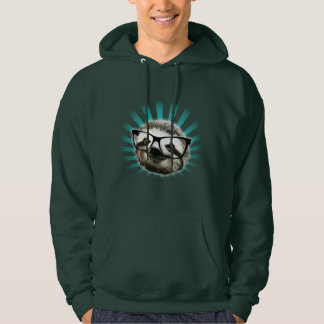 Cute! Hipster Sloth Hooded Pullover