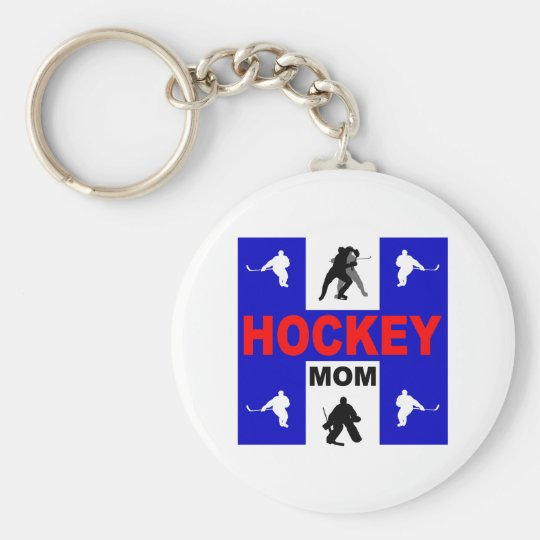 Cute hockey keychain
