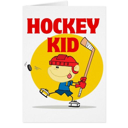 E Card Cartoon Characters : Cute hockey kid cartoon character greeting cards zazzle
