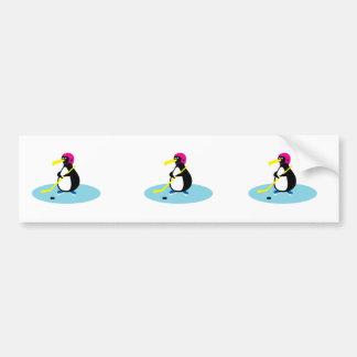 cute hockey penguin car bumper sticker