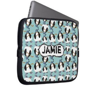 Cute Hockey Penguin Pattern Choose Color Laptop Sleeves
