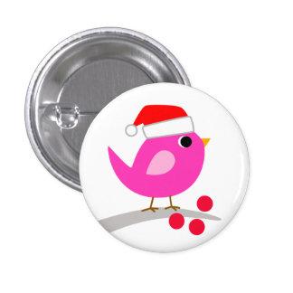 Cute Holiday Bird Button