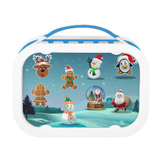 Cute Holiday Cartoon Lunch Box