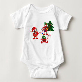 Cute Holiday Christmas Monsters Baby Bodysuit