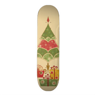 Cute Holiday Christmas Tree Ornaments Presents Skate Boards