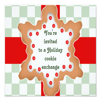 Cute holiday cookie exchange card