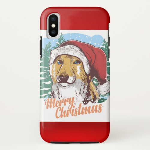 Cute Holiday Dog iPhone X Case