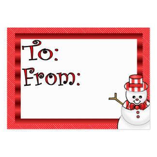 Cute Holiday Gift Tag Large Business Cards (Pack Of 100)