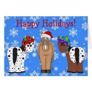 Cute Holiday Horse Christmas Greeting Card
