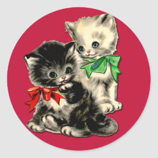 Cute Holiday Kittens Stickers