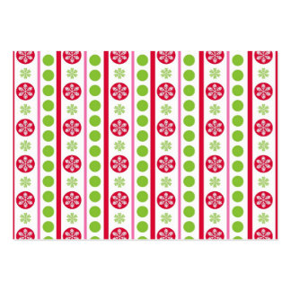 Cute Holiday Pattern Snowflakes Polka Dots Large Business Cards (Pack Of 100)