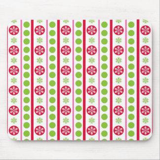 Cute Holiday Pattern Snowflakes Polka Dots Mouse Pad