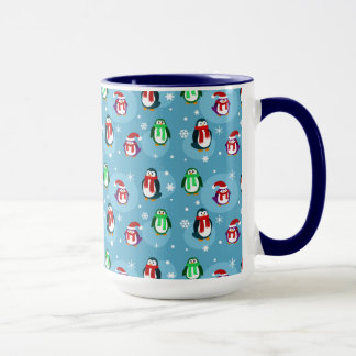 Cute Holiday Penguin Pattern Mug