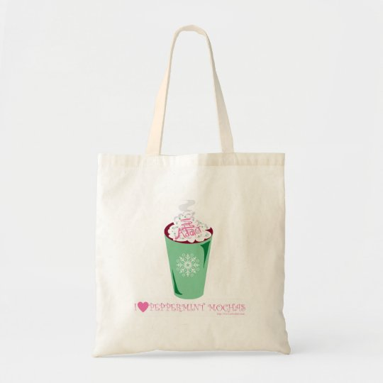 Cute Holiday Peppermint Mocha Tote Bag